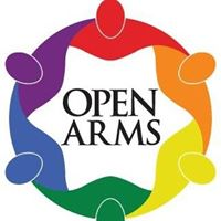 Open Arms Logo rainbow people in arms