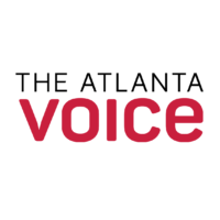 "The Atlanta Voice logo. White back ground, ""The Atlanta"" in black text, ""Voice"" in larger text below in red."