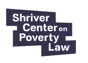 Shriver Center logo. White text on black background, in blocky rectangles.