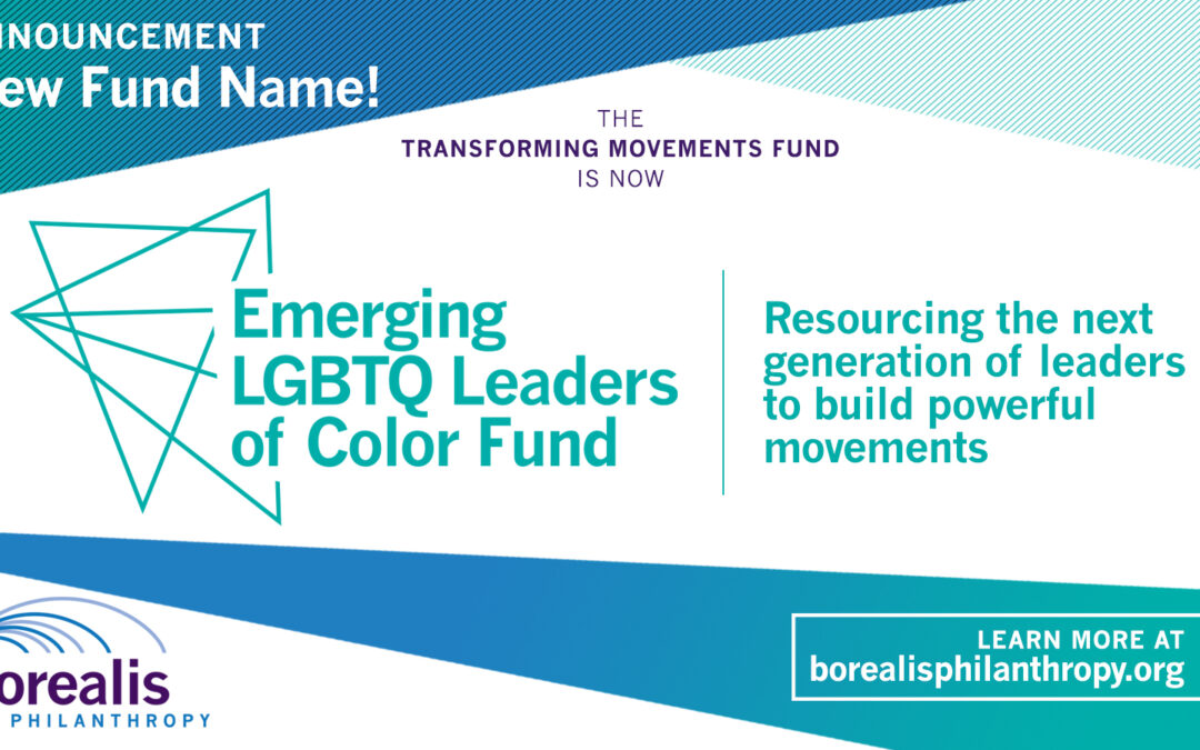 Introducing the Emerging LGBTQ Leaders of Color Fund